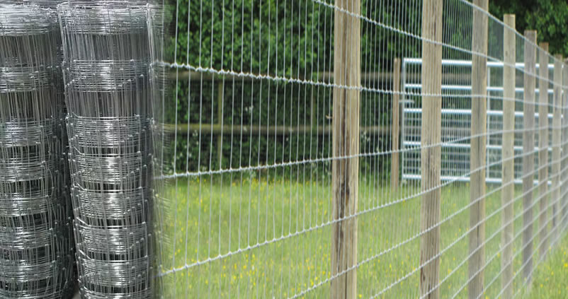 High Tensile Knotted Mesh Field Fencing Wire Hot Dip
