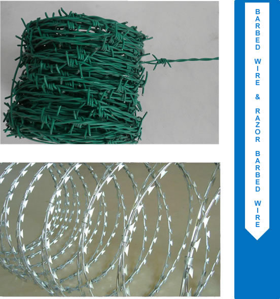 Barbed Wire, Razor Wire & Concertina - Security Fencing Products